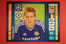PANINI CHAMPIONS LEAGUE 2013/14 N. 342 DE BRUYNE CHELSEA BLACK BACK MINT!