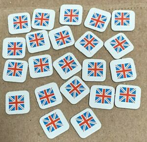 Diplomacy Board Game England 22 Dark Blue Flag Marker Tiles Replacement Parts