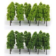 Dark & Light Green Pagoda Tree Model Railway Scenery Decor Z Scale Set of 20