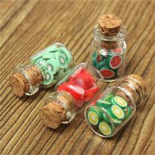 Dollhouse Miniature Food Fruit Slices Glass Jar Cork Bottle Kitchen Decor
