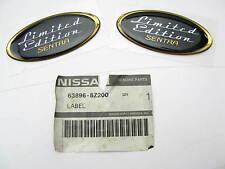 (2) Genuine OEM LIMITED EDITION SENTRA Fender Badge Stickers Emblems For Nissan