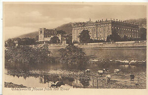 Derbyshire Postcard - Chatsworth House from The River   Y40