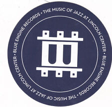The Music Of Jazz At Lincoln Center Sticker 2015 Promo Blue Engine Mint Rare