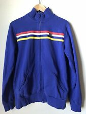 Nike Men's Sportswear Zipped Jacket - Large 100% Cotton Blue Stripes Activewear