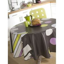 toile  ciréee   ronde  140  cm  fun  anthracite