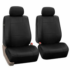 PU Leather Two Front Seat covers for Honda Gray Black