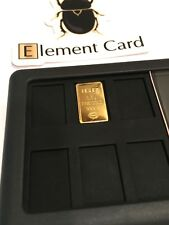 0.5 Gram IGR Istanbul Gold Refinery SOLID GOLD BAR .9999 Element Card Case