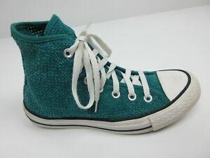 Converse Chuck Taylor All Stars High Top Shoe Womens US 7 UK Rebel Teal 551627F