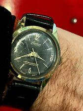 vintage montre LUCERNE 1950's BLACK dial cadran NOIR