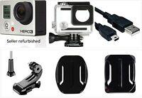 Refurbished GoPro HERO 3 black 4K 12MP HD Camera Camcorder waterproof Case Wi-Fi