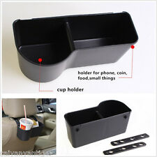 1× Interior Universal Car Seat Back Mount Organize Drink Cup Holder Storage Box