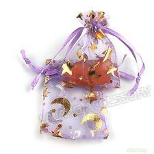50pcs Wholesale New Purple Organza Gift Packaging Bags Wedding Favor 5*7cm JJ