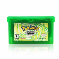 Leaf Green Version Cartridge Card for Pokemon Game Boy Advance NDSL SP NDS US