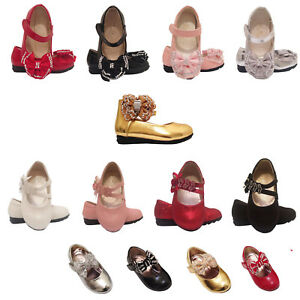 Baby Girls Wedding Bridesmaid Party Shoes Size 18-24 Months