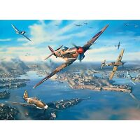 GIBSONS FORTRESS MALTA 1000 PIECE SPITFIRES WORLD WAR 2 AIRCRAFT JIGSAW PUZZLE