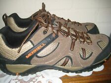 Merrell Mens Size 10 Hiking Shoes Stone / Burnt Orange LkNew