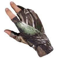 1Pair Anti-slip Fishing Gloves 3 Fingerless Waterproof Sun Protection Camo Glove