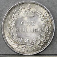 Victoria. Sterling Silver Shilling, 1864, Die No.10, Type A4. gEF, Lovely Tone