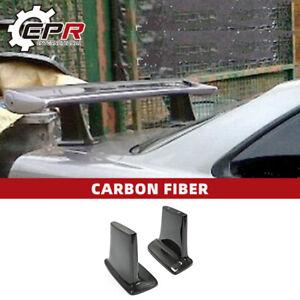 For Nissan R34 GTR JUN Style Carbon Fiber Rear Spoiler High Leg Stand 2pcs