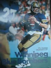 1978 CFL Canadian football program Winnipeg Blue Bombers @ Edmonton Eskimos