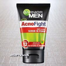 100 g. Garnier Men Acno Fight SCRUB in Foam Face Wash Anti Acne Cleansing Dull