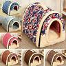 Haustier Hundebett Soft Bett Höhle Katze Nest Abnehmbar Warm Hund Haus Kennel