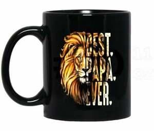 Father's Day Lion Best Papa Mug Funny Black Coffee Mug 11Oz Gift For Family