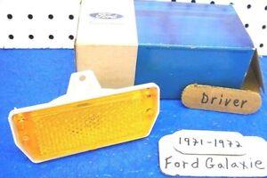 1971-1972 Ford Galaxie Driver Front Side Maker Lens OEM