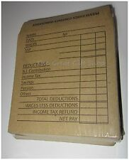50 Salario/Cassa/Orecchini Confezione Marrone Richiudibile Buste 102mm x 108mm