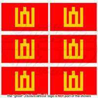"""LITHUANIA Lithuanian Land Forces Flag 1.6""""ARMY Mobile Cell Phone Mini Sticker x6"""