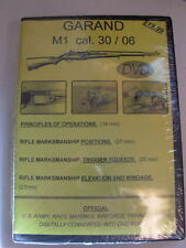 GARAND M1 cal 30/06 NATIONAL ARCHIVE COMPILED TRAINGING FILMS DVD NEW M-1 GUN