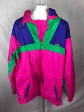 90s Karhu Activewear Neon Blue Pink Anorak Pullover Hooded Windbreaker XL (V)