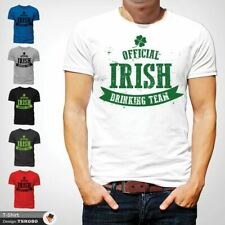 Irish Drinking Team T-Shirt Tee Irlanda Saint Paddys St Patricio Blanco