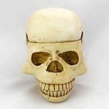 3 Piece Trinket Box Skull Ashtray - White