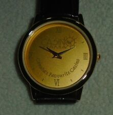WRIST WATCH COLLECTIBLE LEATHER GOLD TONE CASINO RAMA ONTARIO CANADA'S FAVORITE