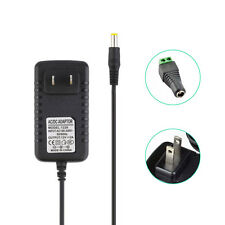 US - AC to DC 12V 2A 24W Power Supply Wall Switch Adapter & DC Connector