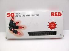 Christmas Lights 18' Strand of 50 Red Mini Lights 1998 Seasonal Specialties  711