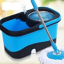 TRI- Square Magic Mop Spin dry 360 Degree Rotating-BQ-200- BL