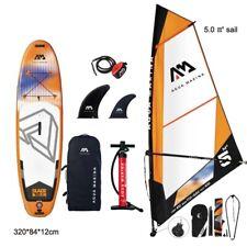 Inflatable Windsurfing Board Stand Up Paddle Windsurf Set Surf Wind Sailboat