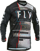Fly Racing Mens Black/White Lite Glitch Dirt Bike Jersey and Pants Combo Kit