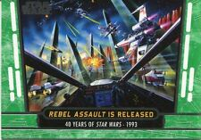 Star Wars 40th Anniversary Green Base Card #77 Rebel Assault is Released
