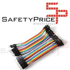40 CÂBLES MÂLE 10cm câble de démarrage dupont 2,54 arduino pic platine d'essai