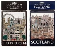 Tin Metal Wall Signs Plaques Door Wall Hanging London Scotland Collage Cityscape