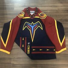 CCM Center Ice Authentic Atlanta Thrashers NHL Hockey Jersey Vintage Blue 52