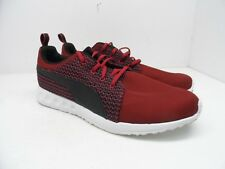 925f1502d519 PUMA Men s Carson Knit Running Shoes Maroon Black White Size 12M