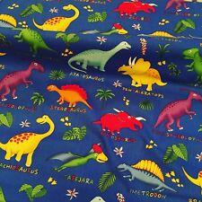 Blanks Dino Party mixed dinosaurs Jurassic 100/% cotton,half metre free p/&p,