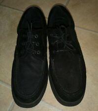 Hush Puppies black suede lace up men's shoes Size uk 10.5  wide fit