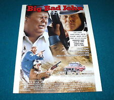 Movie : BIG BAD JOHN video store PROMO AD SLICK w/FLEXI RECORD @ Jimmy Dean 1990