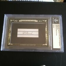 2014 LEAF LEGENDS OF THE LINKS DOUG FORD AUTO AUTOGRAPH GOLF HALL OF FAME 7/18