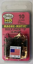 HO Scale - KADEE 10 - #5 MAGNE-MATIC Bulk Pack - 10 Pair Standard Head Couplers